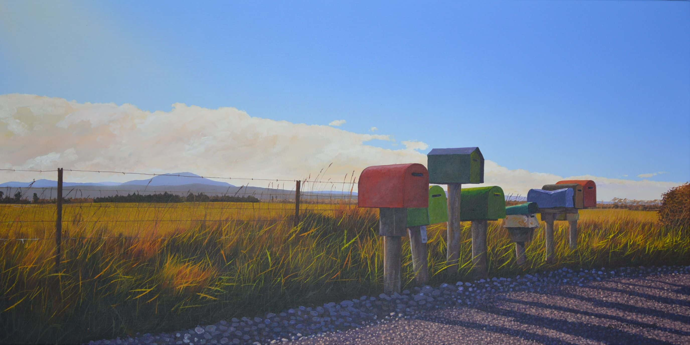 Gressons Road Letterboxes, North Canterbury