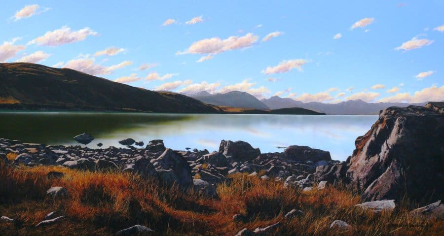 Autumn Evening Lake Tekapo
