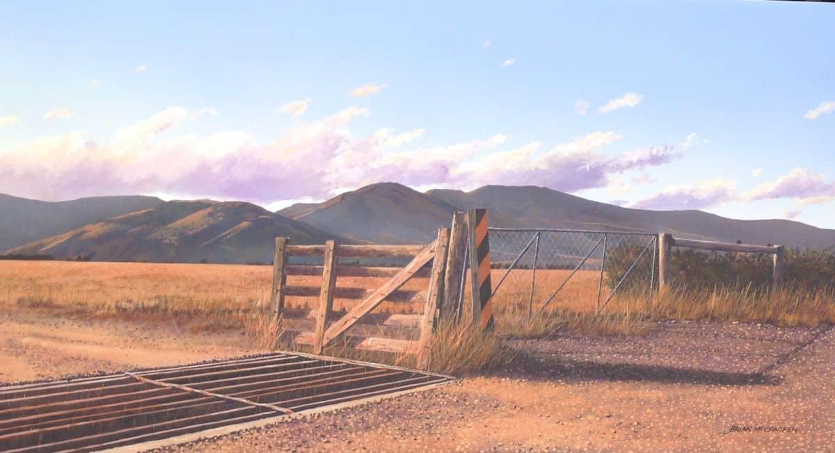 Cattle Stop in Evening Sunlight