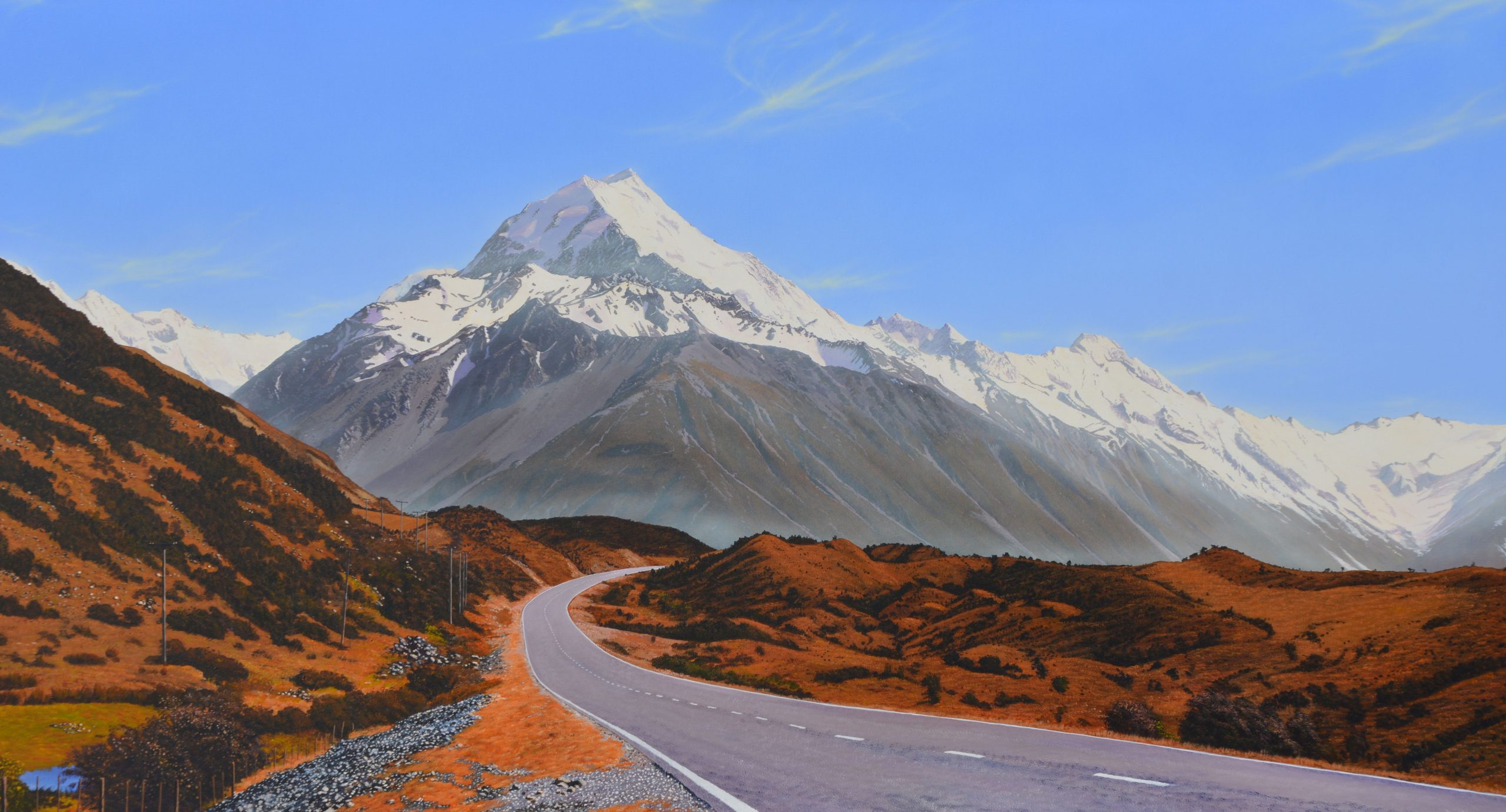 Towards Aoraki - Mt Cook